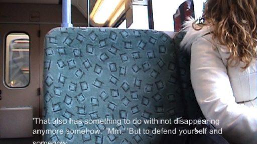 Unterhaltung in der U Bahn (Conversation on the underground)