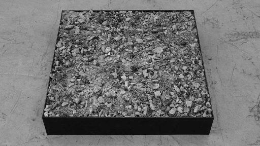 After Smyrne, the remains of a destroyed artwork